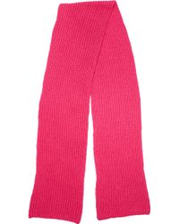 Cedric Charlier - Knit Scarf Rose - Lyst
