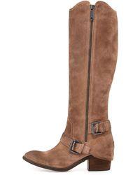 Donald J Pliner Dela Vintage Suede Side Zip Boot - Lyst