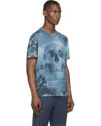 Diesel Blue Skull T_Eirene T_Shirt blue - Lyst
