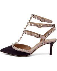 Valentino Rockstud Sling Back Heels - Lyst