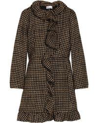 RED Valentino Ruffled Woolblend Tweed Coat - Lyst