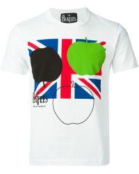 Comme des Garçons Cdg X The Beatles Union Jack T-Shirt - Lyst