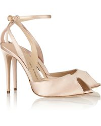 Paul Andrew Europeaus Satin-Covered Leather Pumps - Lyst