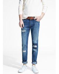 Mango Slim-fit Dark Wash Steve Jeans - Lyst