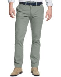 Tommy Hilfiger Slim-Fit Chino Pants green - Lyst