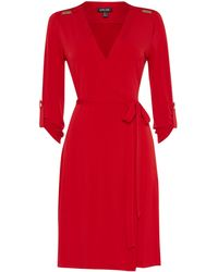 Episode Long Sleeve Dress with Hardware - Lyst