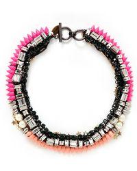 Venna Star Charm Spike Collar Necklace - Lyst