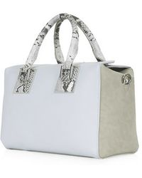Topshop Fold-Over Top Holdall - Lyst