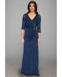 Adrianna Papell Drape Covered Gown - Lyst