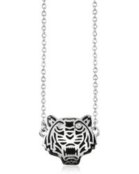 Kenzo Sterling Silver Solid Mini Tiger Necklace - Lyst