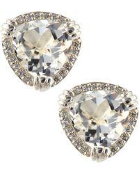Slane - Calypso White Topaz & Diamond Earrings - Lyst