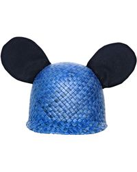 Federica Moretti - George Cotton Ears On Woven Straw Hat - Lyst