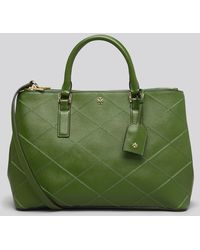 Tory Burch Tote Robinson Stitched Double Zip - Lyst