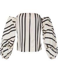 Johanna Ortiz   Cotton Silk Striped Frida Top   Lyst