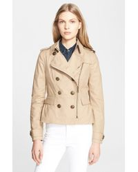 Burberry Brit 'Brookleigh' Short Moto Trench Coat - Lyst