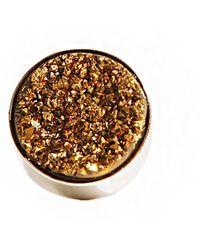 Pixie Market - Galaxy Pyrite Stone Ring - Lyst