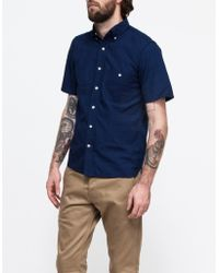 Rogue Territory Jumper Shirt Ss Rinsed Indigo - Lyst