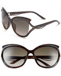 Dior Women'S 'Audacieuse' 59Mm Butterfly Sunglasses - Havana - Lyst