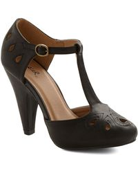 ModCloth Dynamic Debut Heel in Black - Lyst