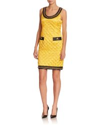 Moschino Quilted Satin Sheath - Lyst