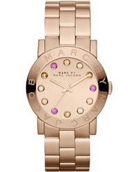 Marc By Marc Jacobs Women'S Amy Rose Gold-Tone Stainless Steel Bracelet 37Mm Mbm3216 - Lyst
