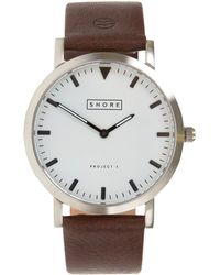 Shore Projects - Dark Brown Poole Watch - Lyst