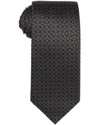 Gucci Grey Horsebit Pattern Silk Tie - Lyst