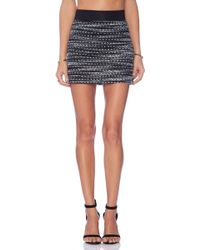 Milly Knitted Tweed Mini Skirt - Lyst