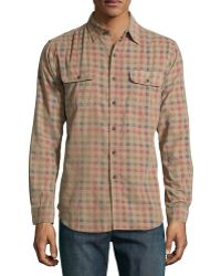 Tailor Vintage Gingham Reversible Woven Sport Shirt - Lyst