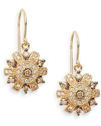 Effy - Final Call 1.16 Tcw Espresso Diamond, White Diamond & 14k Yellow Gold Drop Earrings - Lyst