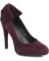 Vera Wang Lavender - Jane Suede Platform Court Shoes - Lyst