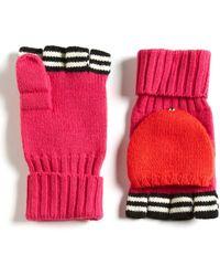 Kate Spade Contrasting Pop-top Wool Mittens - Lyst