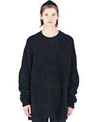 Thamanyah - Men's Oversized Crew Neck Sweater In Black - Lyst