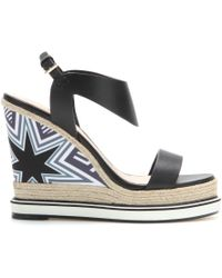 Nicholas Kirkwood Leather Wedge Sandals - Lyst
