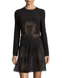 Stella McCartney Long-Sleeve Lace Skirt Dress - Lyst