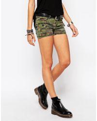 Tripp Nyc - Camo Print Cargo Shorts - Lyst