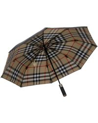 Burberry Prorsum Check-lined Small Collapsible Umbrella - Lyst