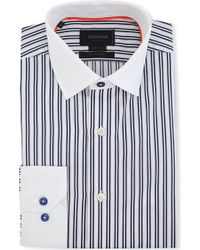 Duchamp Contrast-collar Tailored-fit Single-cuff Shirt - Lyst