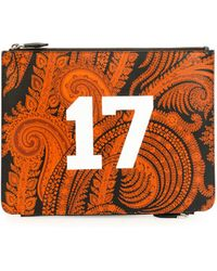 Givenchy Paisley-Print & 17 Leather Pouch - Lyst