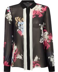 Ellen Tracy - Layered Placket Front Blouse - Lyst