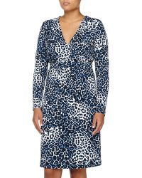 Melissa Masse Animal-Print Dress, Sapphire Leopard - Lyst
