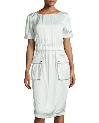 Jason Wu Short-sleeve Cargo Dress - Lyst