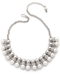 Kenneth Jay Lane Half Pearl Necklace  - Lyst