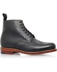 Foot The Coacher - Black Alfred Wing Boot - Lyst