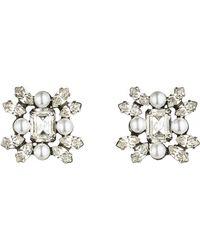 Dannijo Silver Lilly Earrings - Lyst