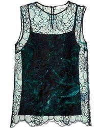 Erdem Naomi Embroidered Cut-Out Silk Top - Lyst