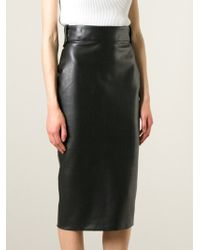 Ermanno Scervino Faux Leather Pencil Skirt - Lyst