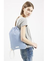 Topshop Drawstring Backpack - Lyst