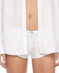 Xirena - Shaya Poplin Boxer Shorts White - Lyst