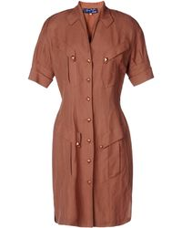 Thierry Mugler Knee-Length Dress brown - Lyst